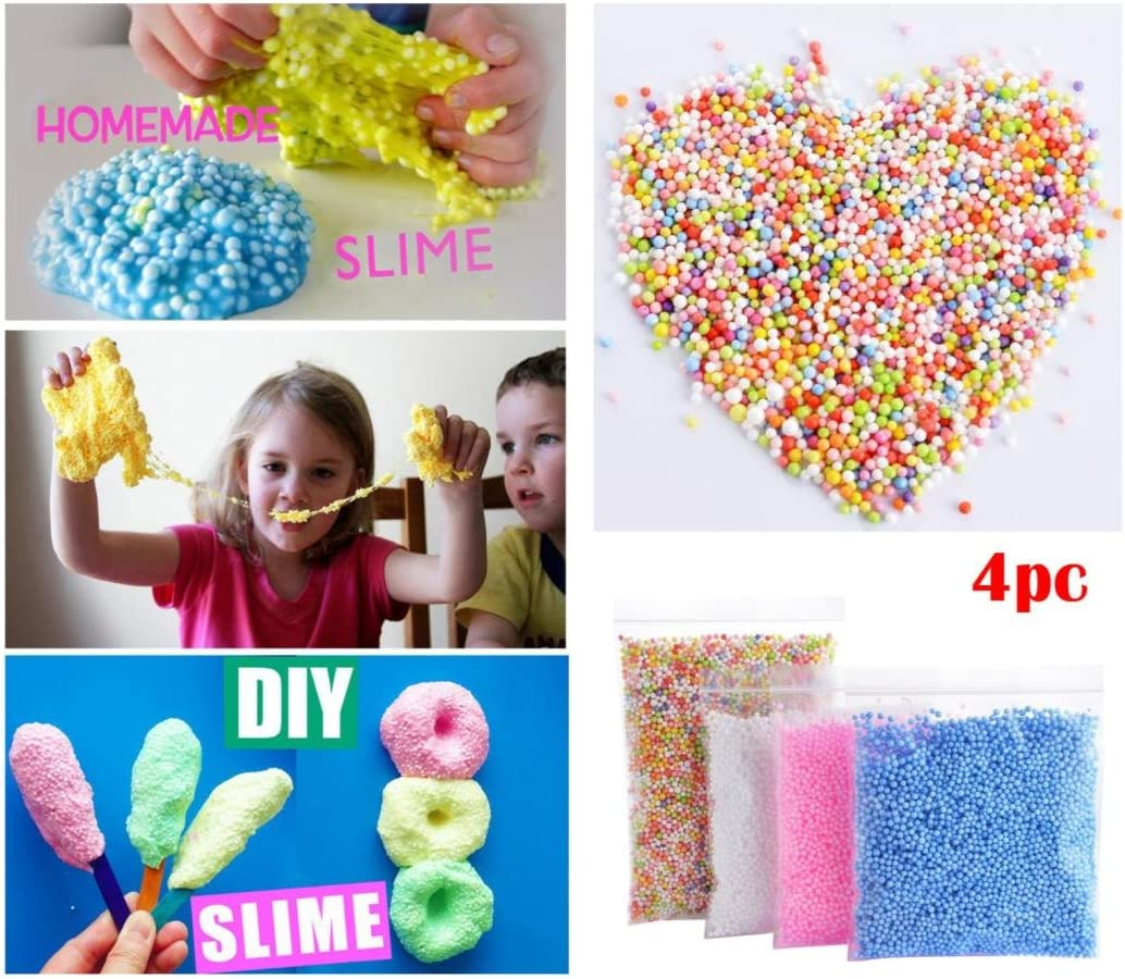 Kids Craft Oldeagle 4PC Foam Balls 0.1-0.18 inch(30000 pcs) DIY Crafts Supplies For Homemade Slime Wedding and Party Decoration