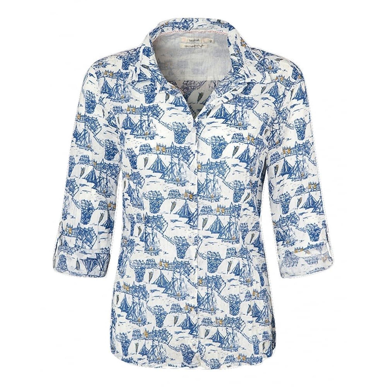 Seasalt Womens Larissa Shirt in Charlestown Salt