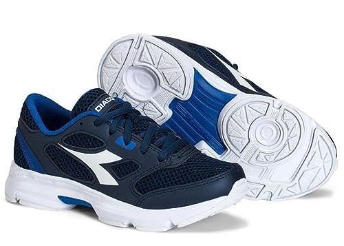 93680de3 Diadora Kids Shape 7 JR Running Shoe (10. 5 Little Kid, Navy/White ...