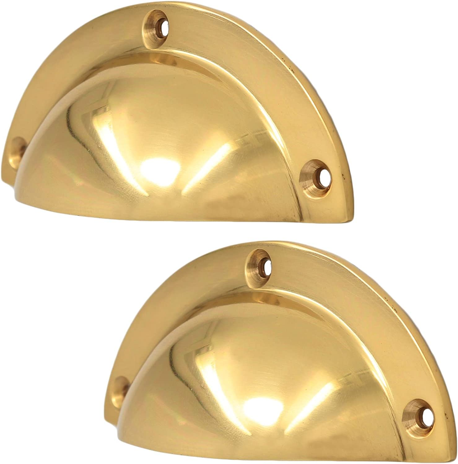 Home Use 2x  Drawer Cabinet Cup Door Handles Knobs Cupboard Shell Pulls Hardware