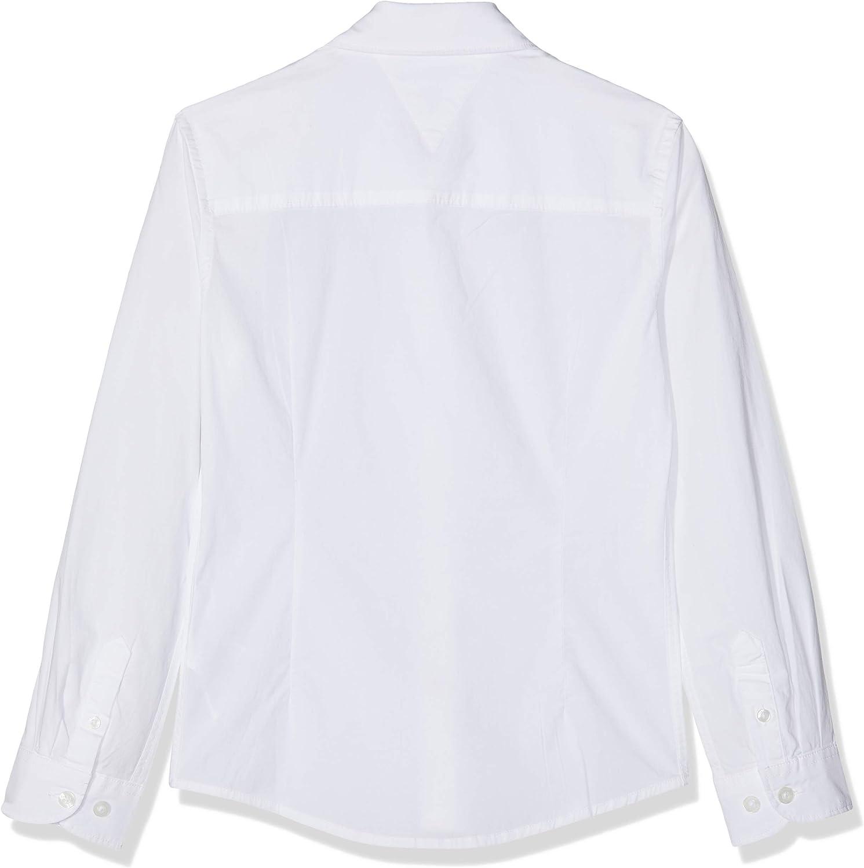 Tommy Hilfiger Boys Solid Stretch Poplin Shirt L//S Camicia Bambino