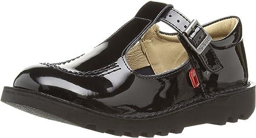Kickers Girls' Kick T-bar School Shoes