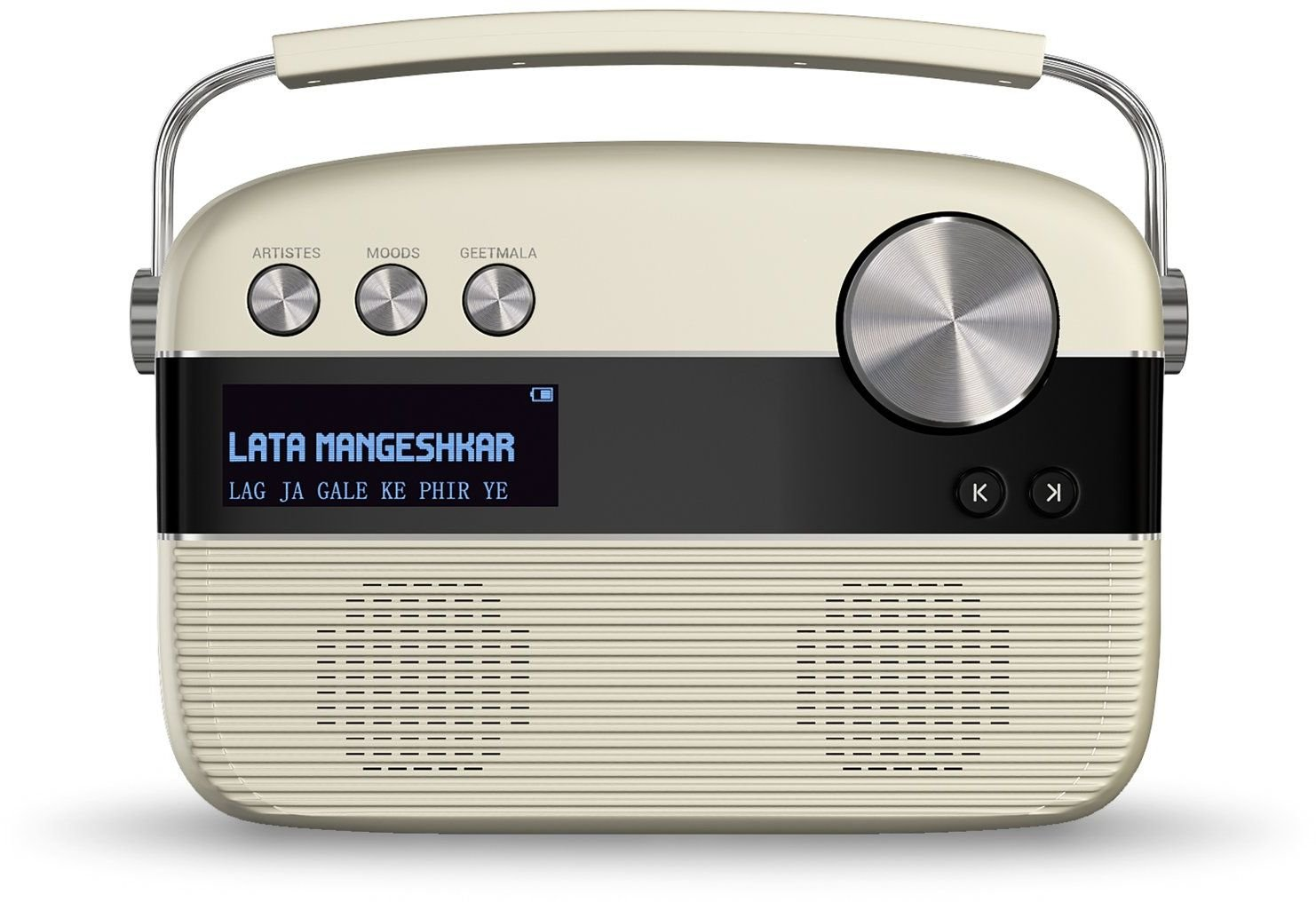 Saregama Carvaan SKU-R20008 Portable Digital Music Player (Porcelain White)  with Out Remote