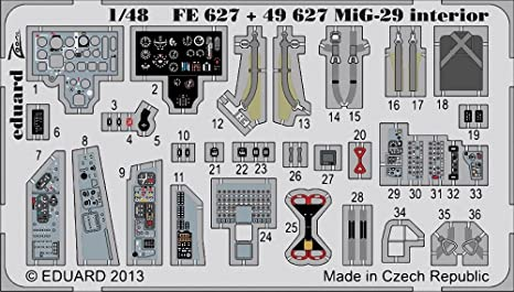 Amazon com: MiG-29 Photo Etch Cockpit Details for Great Wall model