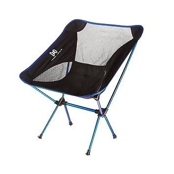 Moon Lence Sillas plegables portátiles ultraligeros de Altas Prestaciones para sillas de camping playa, con bolsa de transporte