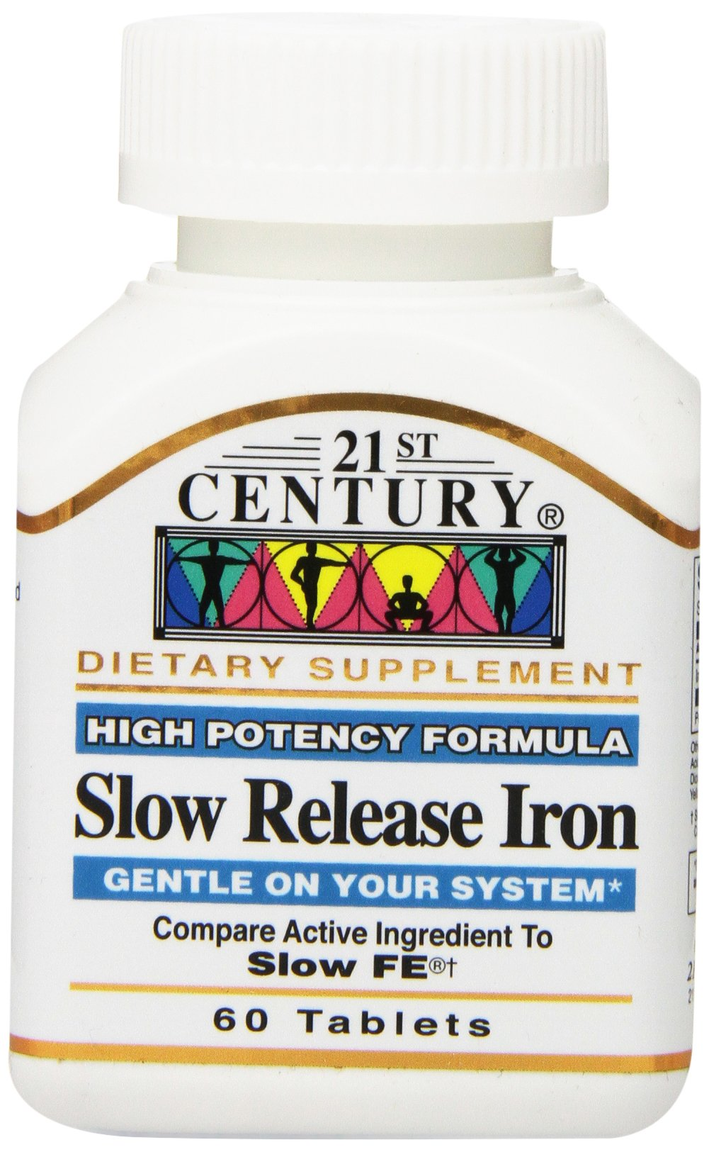 21st Century Slow Release Iron Tablets, 60 Count