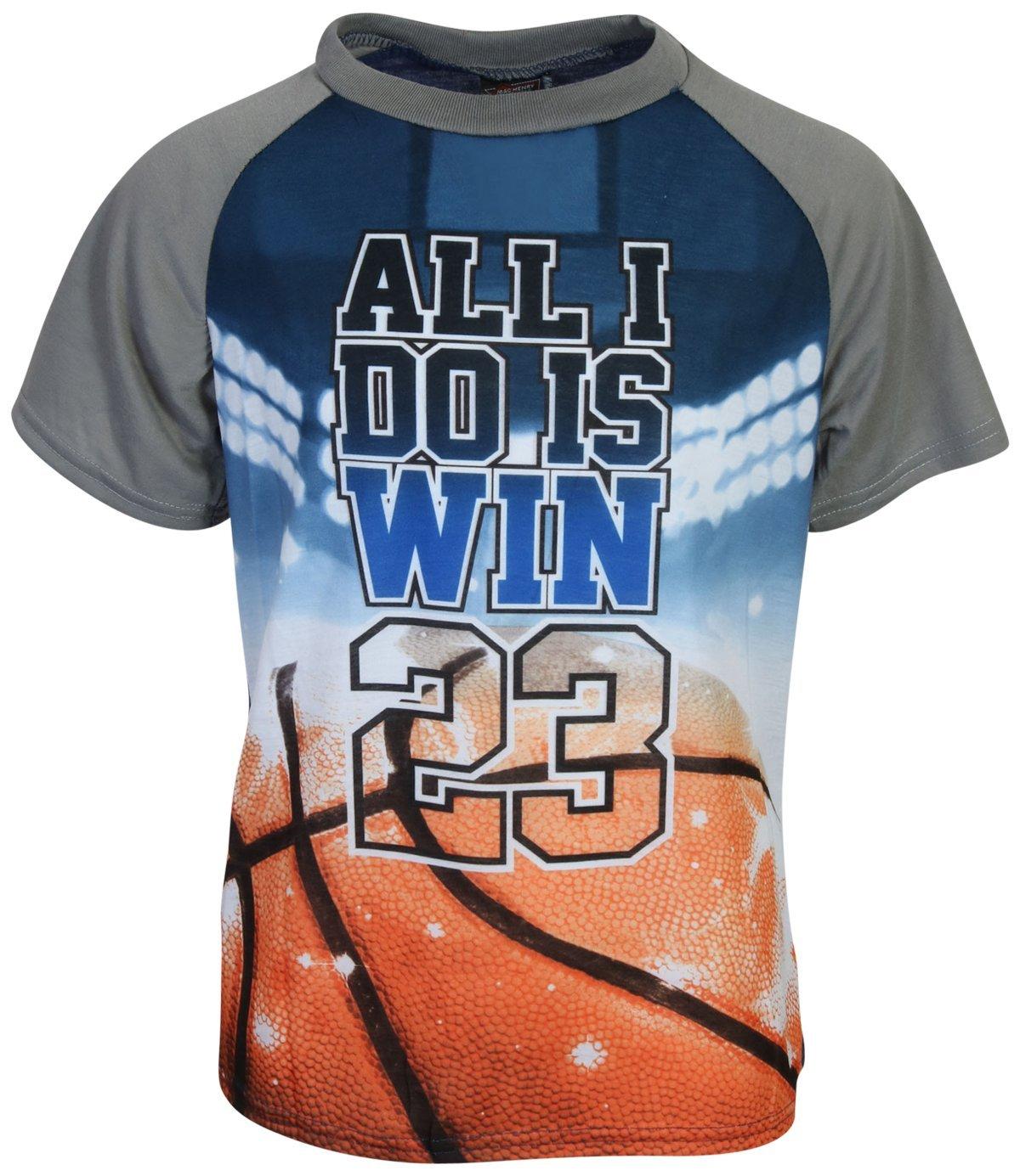 MAC HENRY Boys Sublimation Pajama Short Set, Blue Basketball, Size 8/10 by MAC HENRY (Image #2)