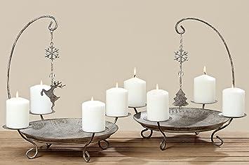 Kerzenständer kerzenleuchter belluno metall advent tischdeko