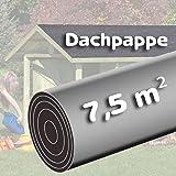 Bitumen - Dachpappe 7,5 m² schwarz besandet für Spielhaus von Gartenpirat®