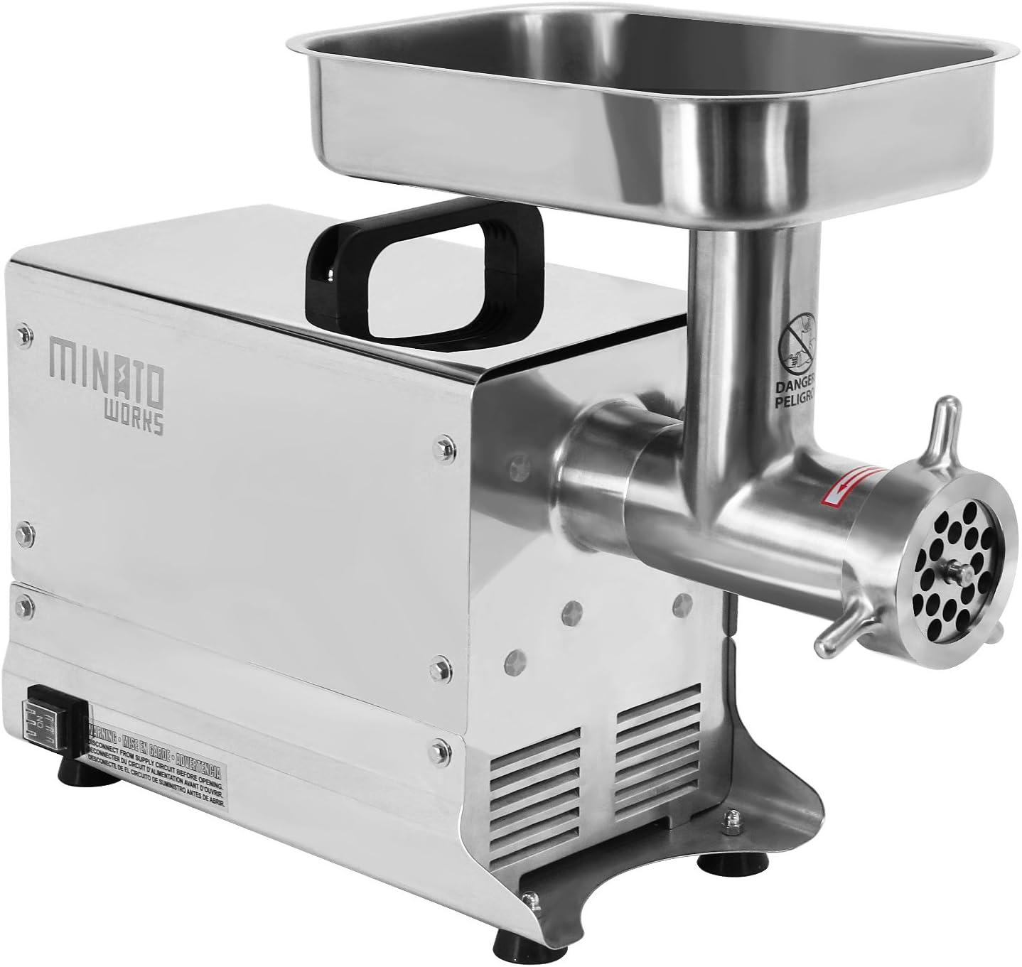 ミナト 業務用ステンレス製 電動ミンサー (PMM-12F 消費電力:550W)