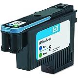 HP C9408A - Cabezal de impresión, 130 ml, Verde/Azul