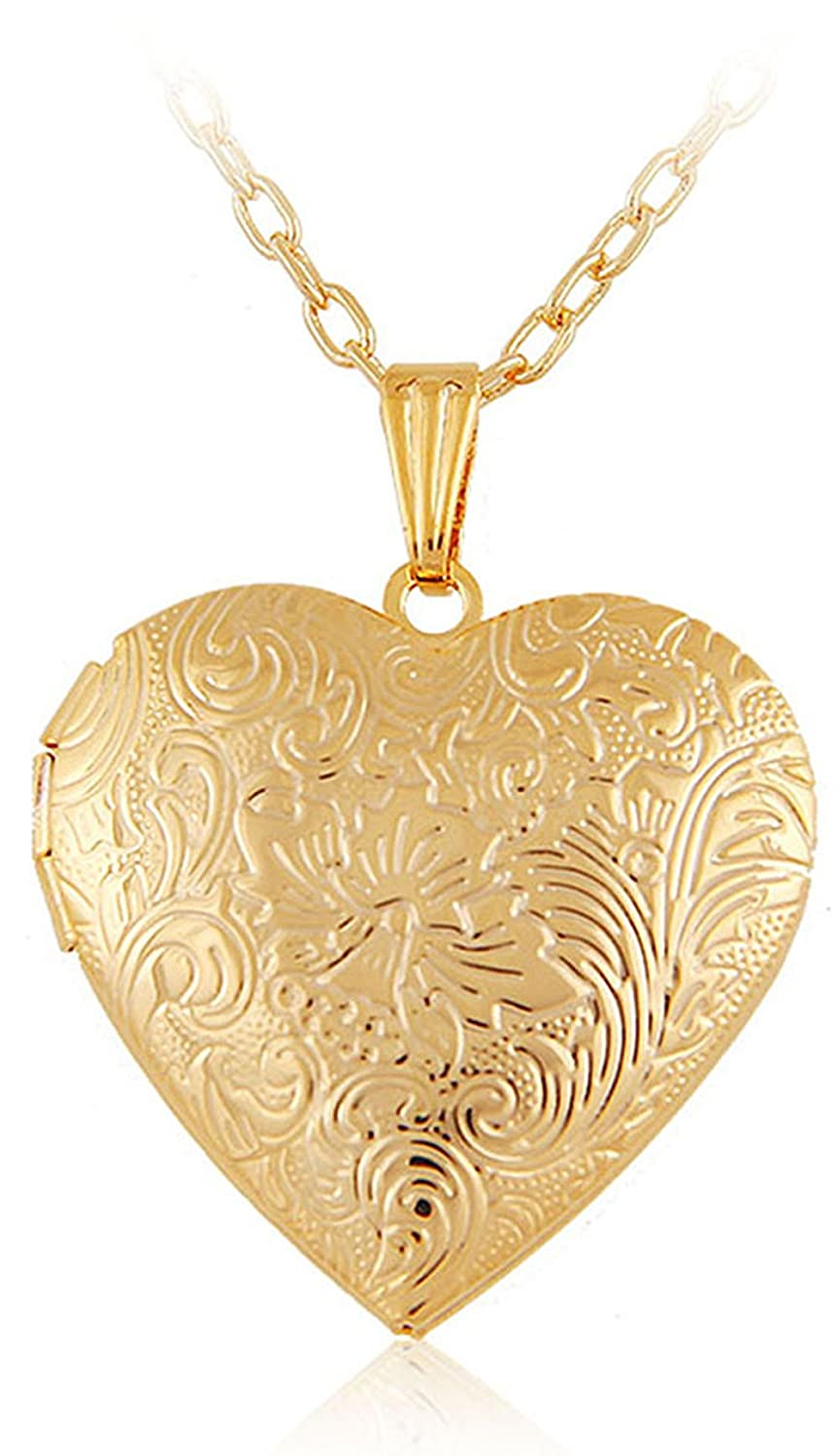 lockets gold necklaces golden two best zoom il friendship locket au fullxfull heart half listing