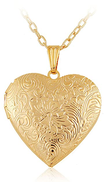 Buy via mazzini 18k gold plated hallmarked heart photo locket via mazzini 18k gold plated hallmarked heart photo locket pendant for women nk0397 mozeypictures