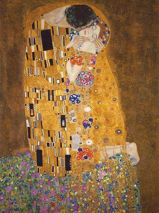 Framed Art Print Gustav Klimt The Kiss Wedding Gift Love Poster Painting 043