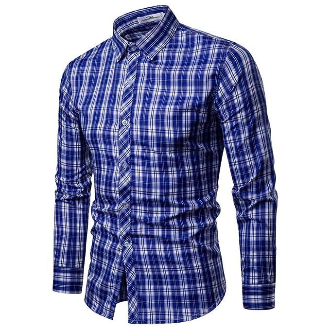 Da Uomo per il tempo libero Camicia Uomini Business Camicia Quadri Taglia M