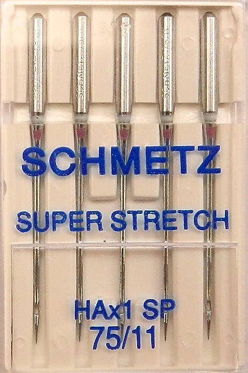SCHMETZ Super Stretch HA x 1 SP - Agujas para máquina de coser (75 ...