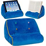 Book Couch iPad Tablet Holder Novelty eReader Rest Sofa Pillow Stand Gift Idea – Blue