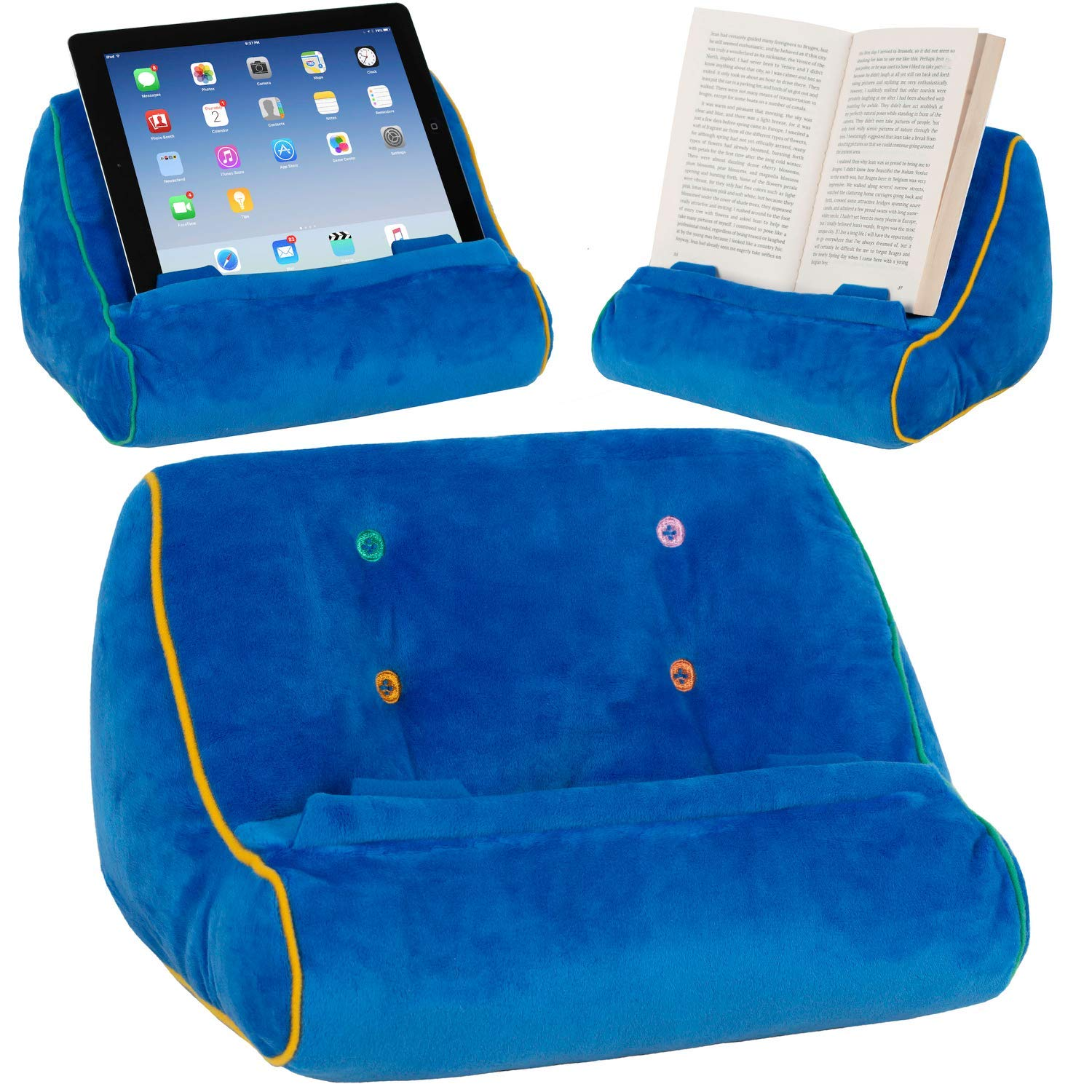 Blu Gifts for Readers /& Writers Book Couch Supporto iPad Tablet novit/à Leggio in Cuscino per eReader Idea Regalo