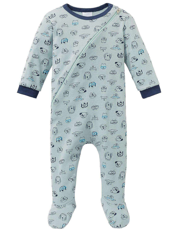Schiesser Boys' Cool Dogs Baby Anzug Mit Fuß Pyjama Sets 163393