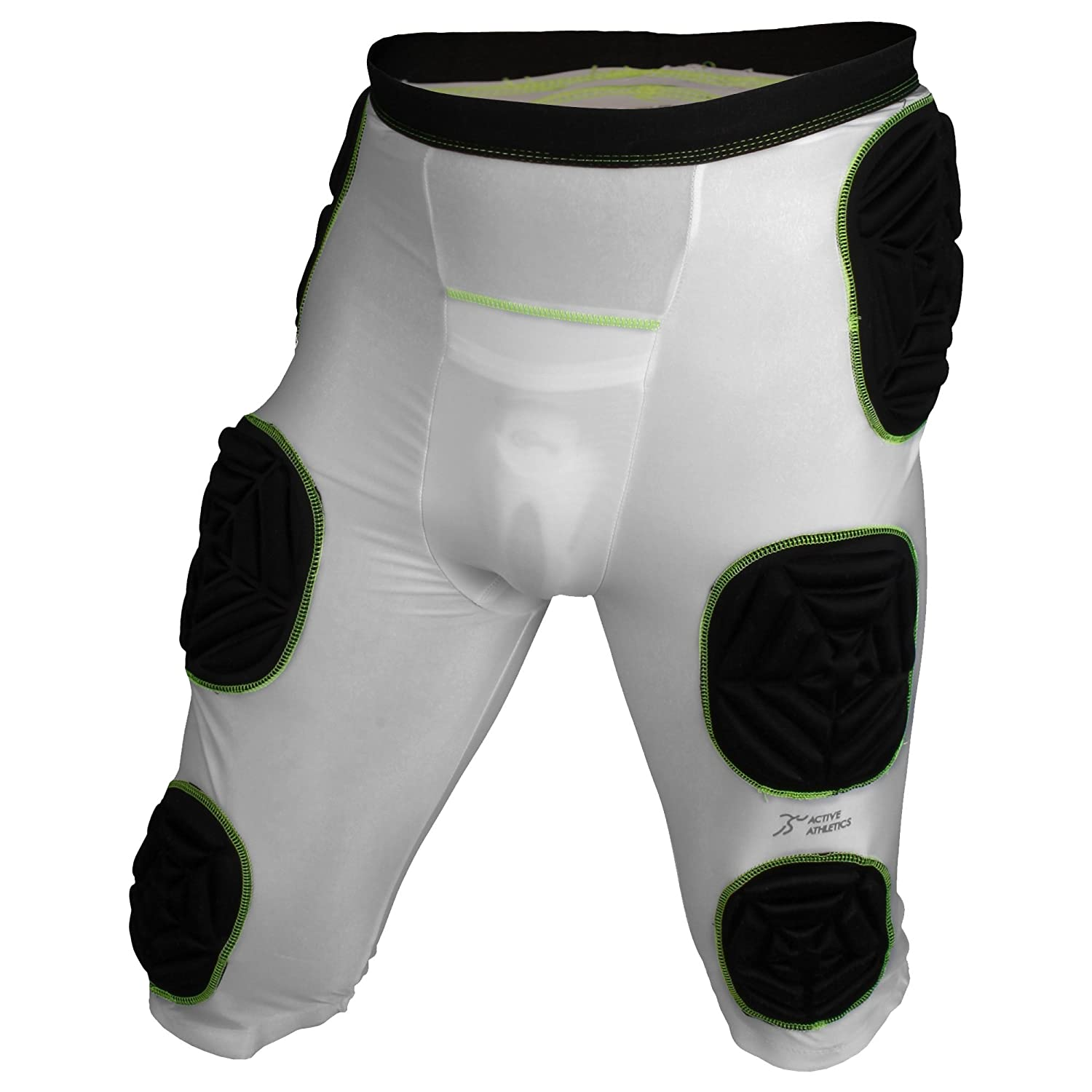 Active Athletics American Football Brief with 7Integrated Pads white