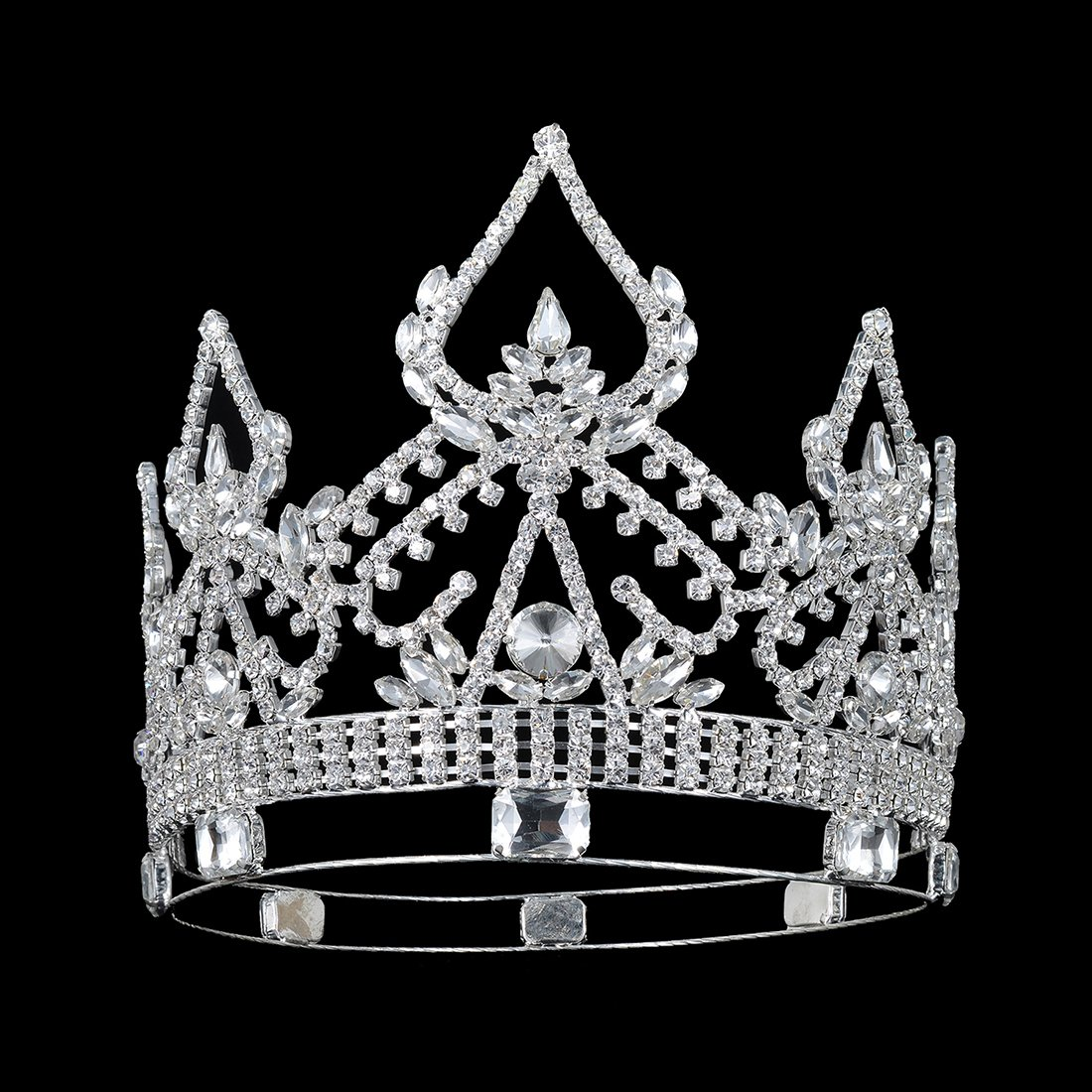 DcZeRong Women Crowns Queen Crowns For Women Prom Pageant Party Rhinestone Crystal Full Crowns by DcZeRong (Image #3)