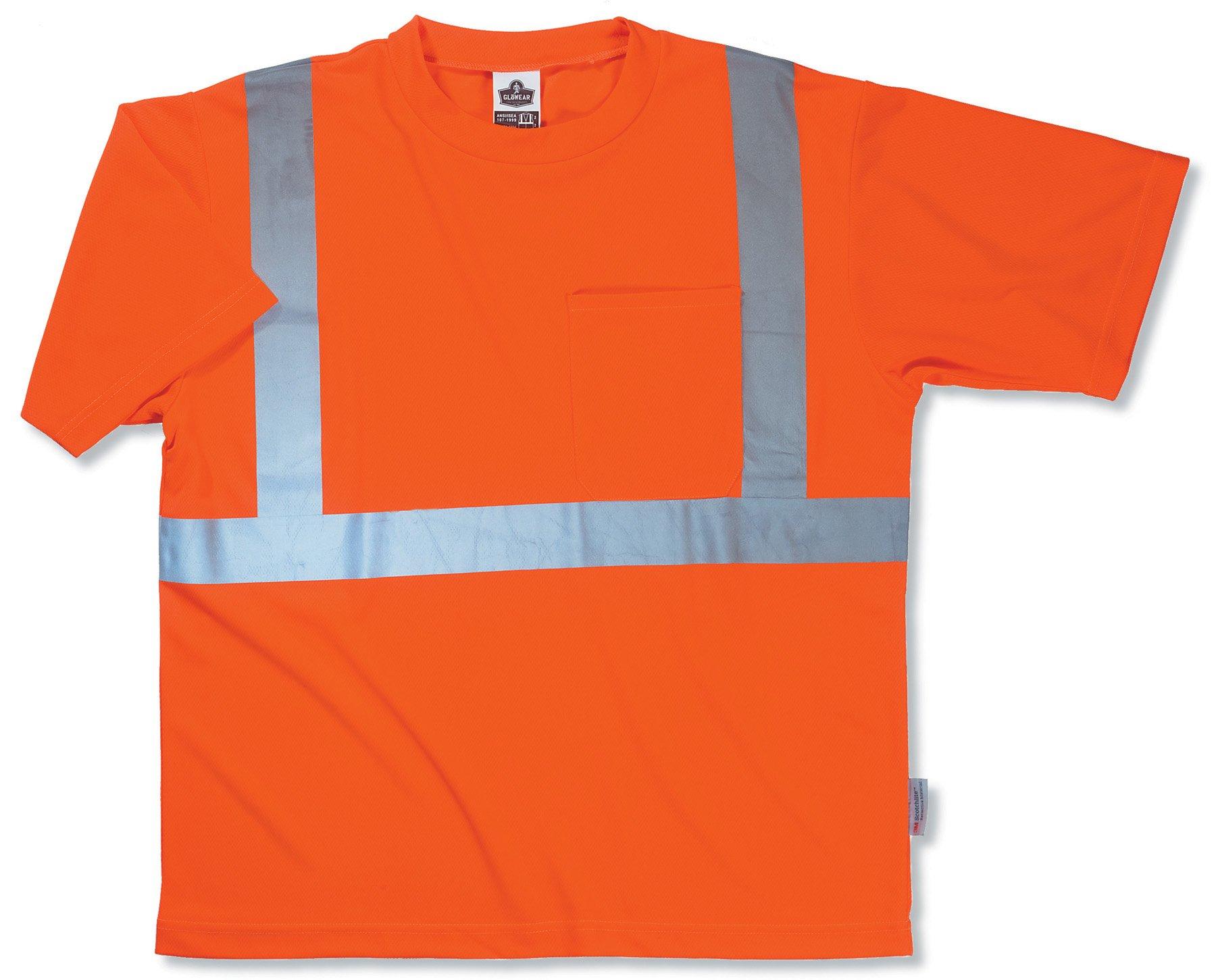 Ergodyne GloWear 8289 ANSI High Visibility Orange Reflective T-Shirt, 2XL