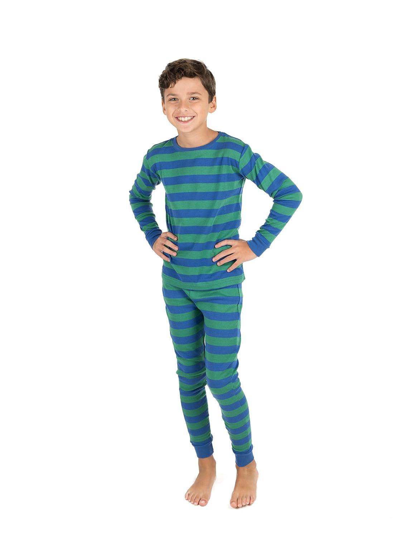 Leveret Striped Kids & Toddler Boys Pajamas 2 Piece Pjs Set 100% Cotton Sleepwear (Toddler-14 Years) 710piWi8hQL