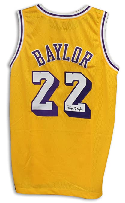 59c31ef7cf0 Elgin Baylor Los Angeles Lakers Autographed Gold Jersey -APE COA at ...