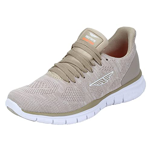 5fc5e1610e1 Red Tape Men s Beige Running Shoes - 9 UK India (43 EU)(RSC0135 ...