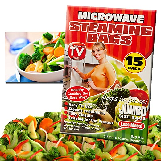 Set de 15 bolsas para cocinar al vapor para microondas ...