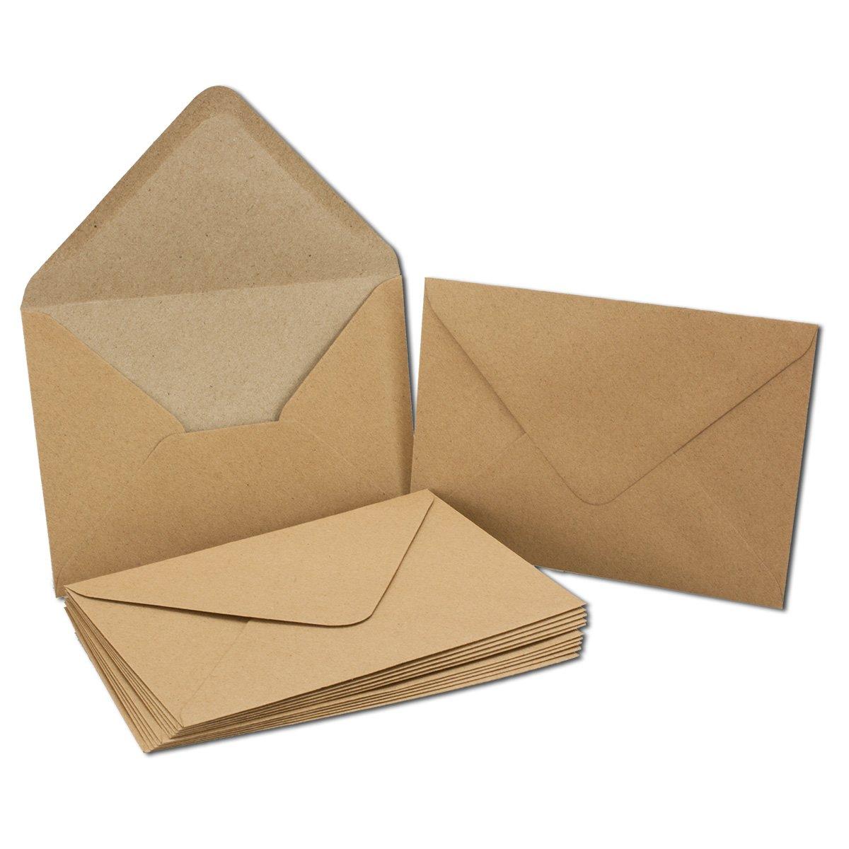 Vintage Kraftpapier-Karten Set mit Brief-Umschläge & Einlege-Blätter I 250 250 250 Sets I Blanko Recycling-Karten Natur-Braun I DIN A6   C6 B075GL3HZF | Online  5c0d3b