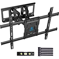 Full Motion TV Wall Mount Bracket Dual Articulating Arms Swivels Tilts Rotation for Most 37-70 Inch LED, LCD, OLED Flat&Curved TVs, Holds up to 132lbs, Max VESA 600x400mm by Pipishell