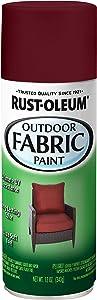 Rust-Oleum 358831 Specialty Outdoor Fabric Paint, 12 oz, Dark Red