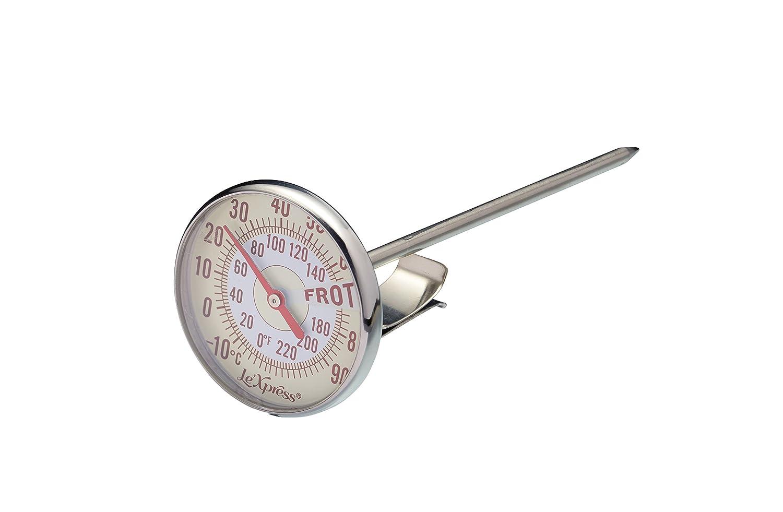 KitchenCraft KCLXMILKTHERM - Termómetro metálico