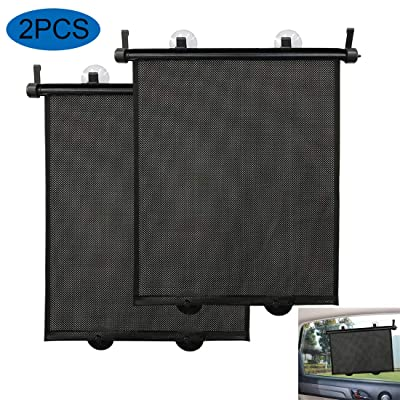 Big Ant Car Sun Shades - 2 PC Roller Window Sunshade for All Vehicle, Retractable Car Window Sunshade Blocks Max UV Rays and Keeps Car Cool: Automotive