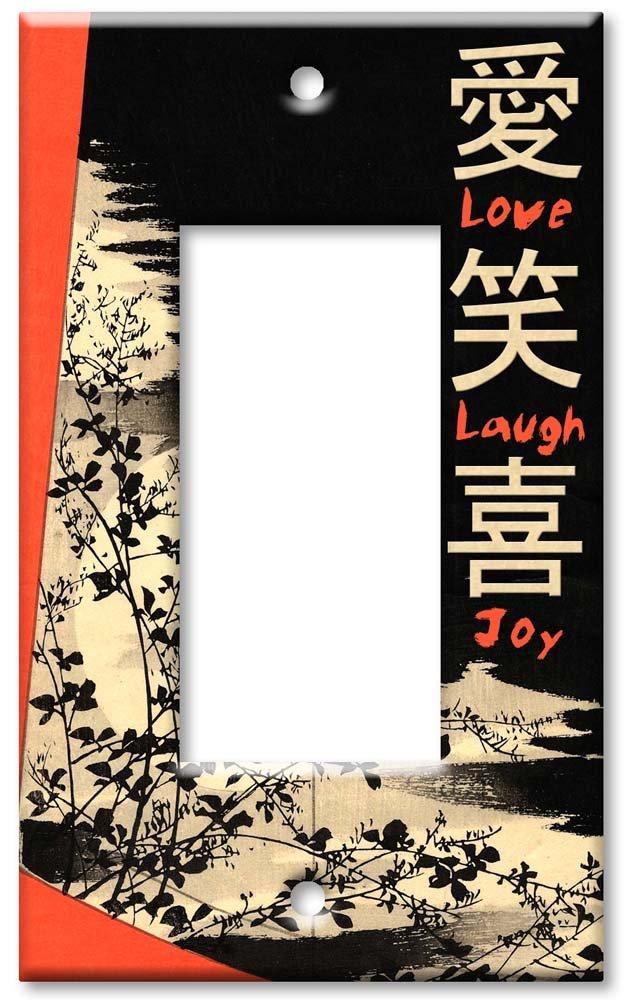 Art Plates - Love, Laugh, Joy Switch Plate - Single Rocker by Art Plates (Image #1)
