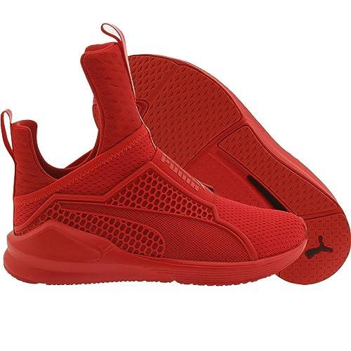 rihanna puma red sneakers