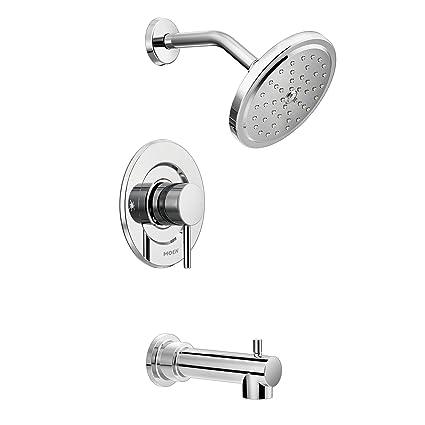 Tub And Shower Valve.Moen T3293 Align Moentrol Volume Control Modern Tub And Shower Trim Kit Valve Required Chrome