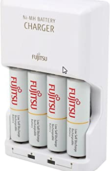 4-Pack Fujitsu AA 2000mAh Rechargeable Batteries w/Charger