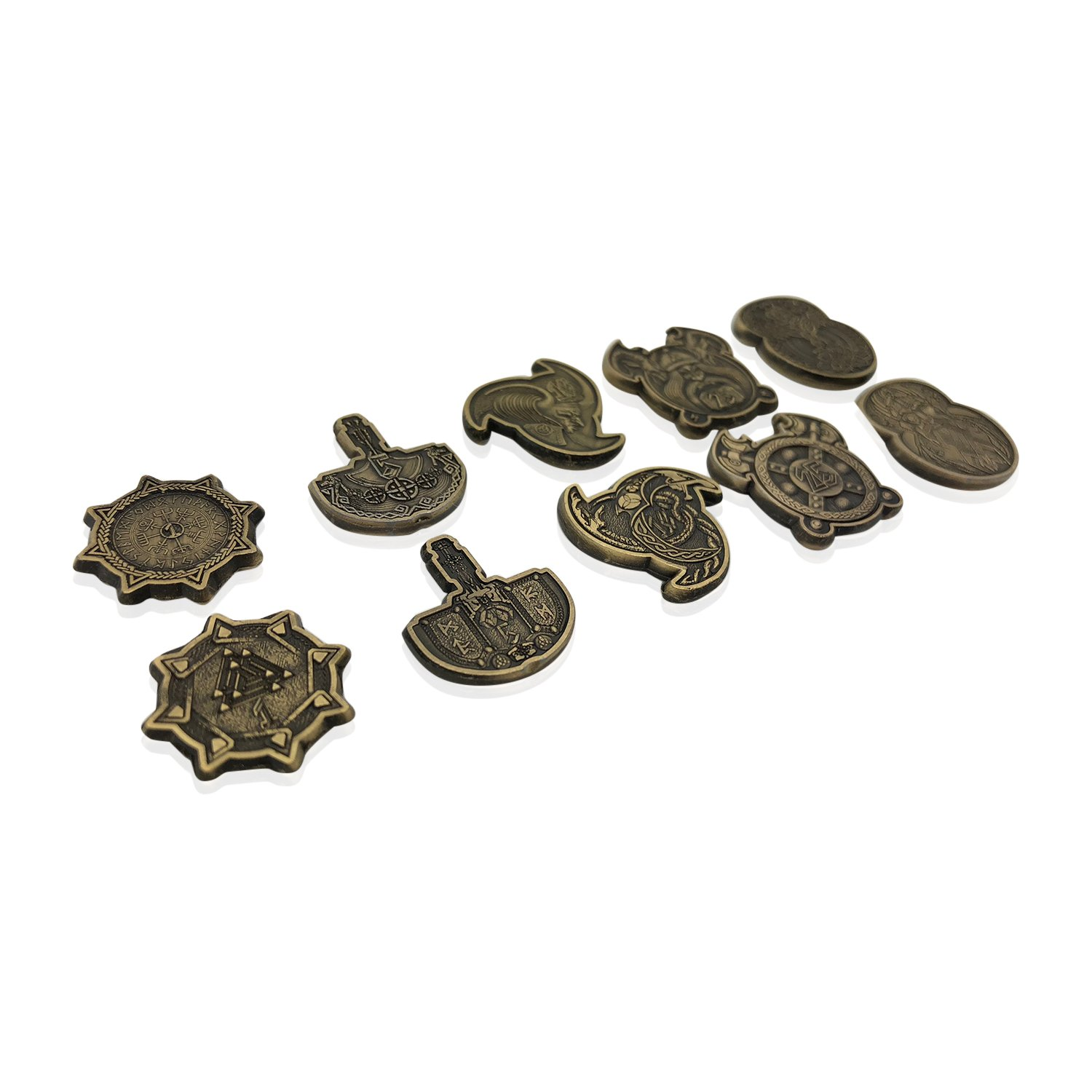 Vikings Norse Variety Pack (Set of 10) (Metal plated novelty) Adventure Coins For RPGs/LARP   DnD Pathfinder Live Action Role-playing Games