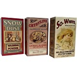 Set of Three Assorted Wooden Laundry Box Signs - Vintage Ads by Ohio Wholesale