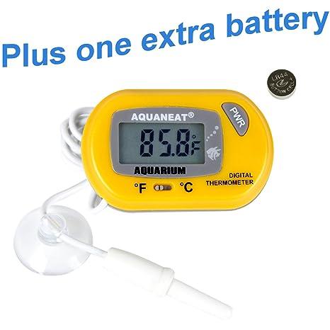 Amazon Com Aquaneat Aquarium Thermometer Lcd Digital For Fish