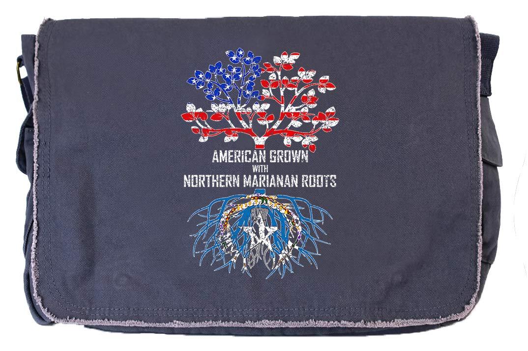 Tenacitee American Grown with Northern Marianan Roots Flamingo Raw Edge Canvas Messenger Bag