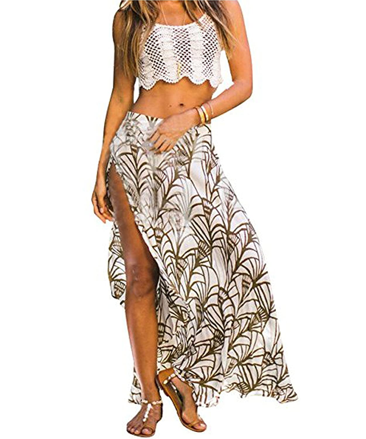 NWT WHITE HOUSE BLACK MARKET Printed Chiffon Maxi Skirt Sz 0,2,8 $130.00