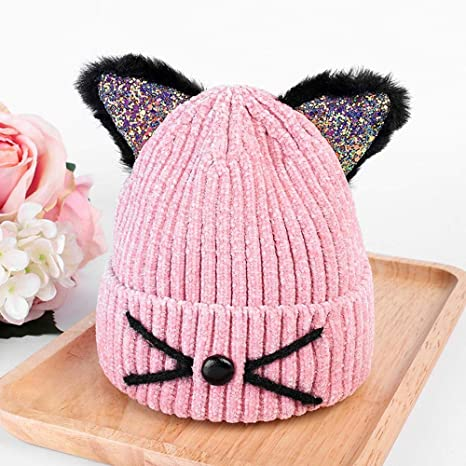 a2f732b1 Image Unavailable. Image not available for. Color: Myzixuan Children's Hats  Autumn New Sweater hat Knit hat