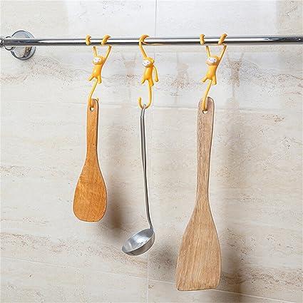 EDTOY Cartoon Mono pared gancho Ideal para utensilios de cocina, utensilios de cocina, toallas