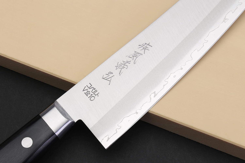 Amazon.com: Yoshihiro VG-1 Oro Acero Inoxidable Gyuto ...