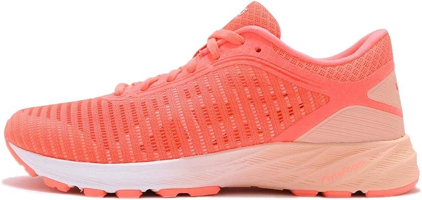 Asics Dynaflyte 2, Zapatillas de Running para Mujer, Naranja (Flash Coral/White/Apricot Ice 0601), 44 EU: Amazon.es: Zapatos y complementos