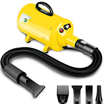 amzdeal Dog Dryer 2800W/3.8HP Stepless Adjustable Speed Dog Hair Dryer Dog Grooming Blower Pet Hair Force Blower Blaster