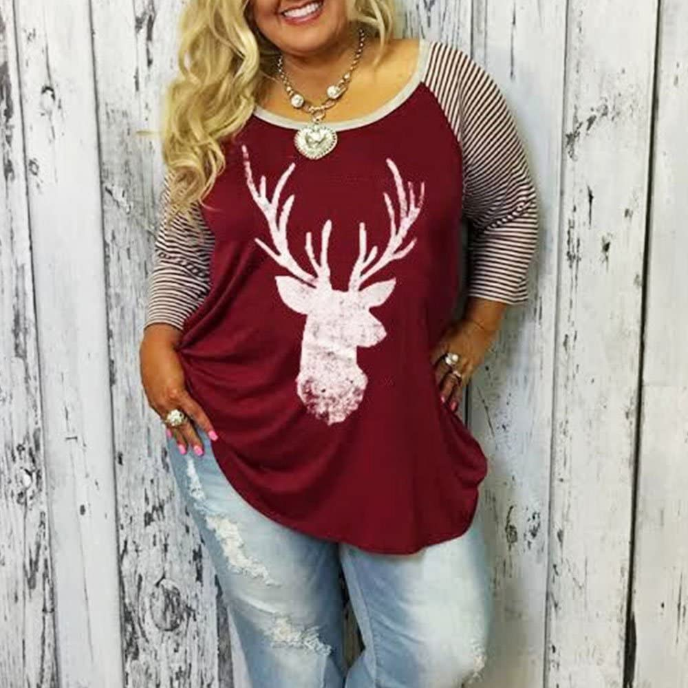 Vin beauty TOPmountain Faith Over Fear Letter Printed Long Sleeve T Shirt Plus Size Tops for Women